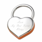 Orange Heart Keychain
