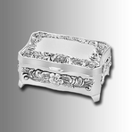 Ornamental Silver Floral Jewelry Box