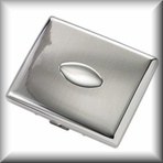 Oval Double Sided Cigarette Case