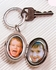 Oval Silver Picture Frame Keychain