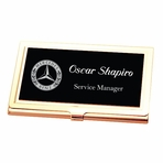 Personalized Black And Gold Business Card Holder Case Custom Engraved