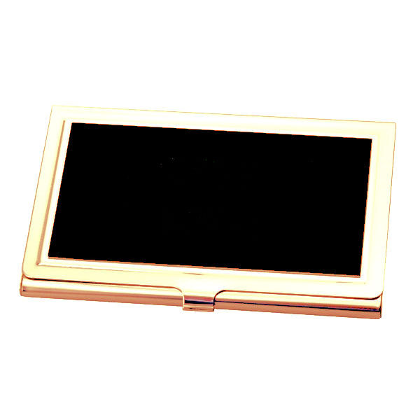 Black and gold business card holder case business card holder engraved black and gold business card holder case colourmoves Gallery