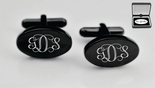 Black Oval Cufflinks