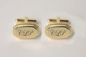 Gold Contemporary Cufflinks