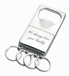 Personalized Key Chain With Bottle Opener