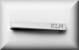 Personalized-Monogrammed Silver Tie Clip