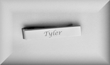 Personalized-Monogrammed Silver Tie Clip For Skinny Ties