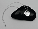 Personalized Polished Heart Necklace with CZ