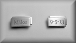 Contemporary Stainless Steel Cufflinks