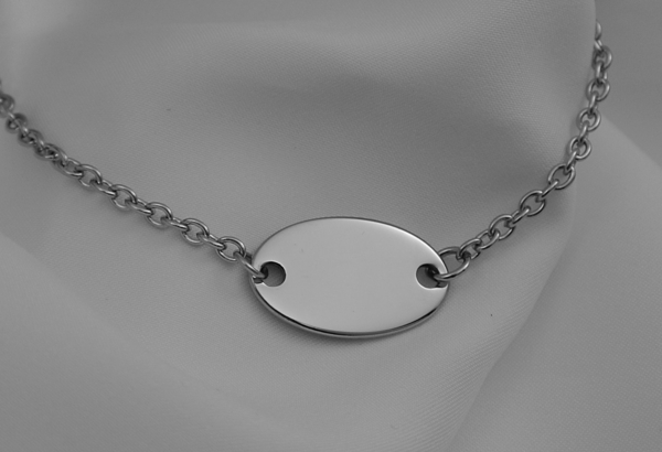 Personalized silver oval pendant necklace engraved free engraved personalized silver oval pendant necklace engraved free aloadofball Images