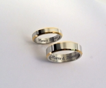 Silver & Gold Two Tone Couple's Ring Set