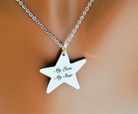 Personalized Stainless Star Necklace Engraved Free