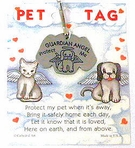 Pewter Dog Guardian Angel Pet Tag