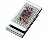 Queen of Hearts Money Clip