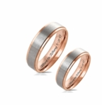 Rose Gold & Silver Ring Set