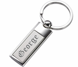 Satin Polished Chrome Keychain