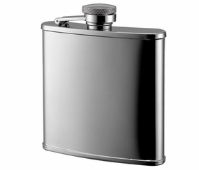 Shiny Stainless Steel Flask