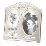 Silver 25th Wedding Anniversary Picture Frame