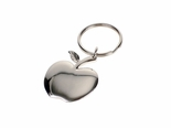 Silver Apple Keychain