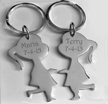 Silver Best Friends Keychain Set