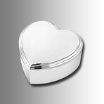 Silver Beveled Heart Jewelry Box