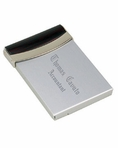 Silver & Cherrrywood Style Business Card Holder