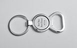 Silver Circle Bottle Opener Keychain