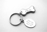 Silver Doggy Bone Keychain