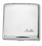 Silver Double Sided Cigarette Case