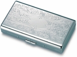 Silver Flip-Open Double Sided Cigarette Case