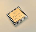Silver & Gold Two Tone Compact Mirror