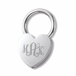 Silver Heart Key Chain