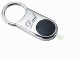Silver Keychain With Black Flashllight