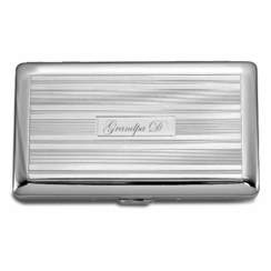 Silver Lined Double Sided Cigarette Case