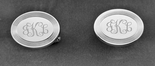 Silver Oval Engravable Cufflinks
