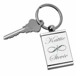Silver Picture Frame Keychain