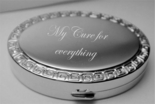 Silver Plated Greek Design Oval Pillbox
