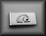 Silver Playing Card Money Clip
