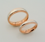 Silver & Rose Gold Stainless Steel Ring Set