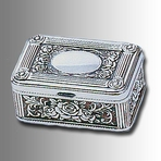 Silver Rose Jewelry Box