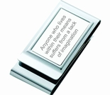 Silver Stainless Two Sided Money Clip and Credit Card Holders