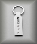 Silver Three Stone Keychain