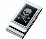 Skull & Bones Money Clip,  Credit Card Holder.