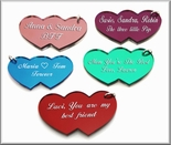 Small Double Heart Keychains