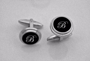 Small Elegant Black Cufflinks