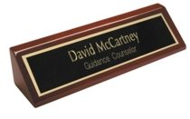 Small Rosewood Desk Sign
