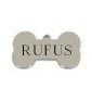 Small Silver Bone Pet Tag