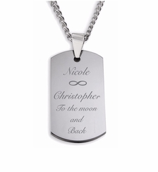 Small Stainless Steel Dog Tag Necklace