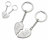 Split Heart Magnetic Key Chain