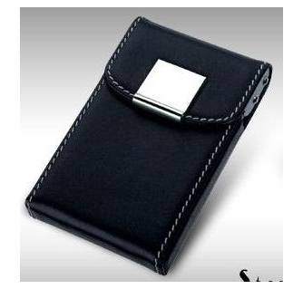 Square leather business card holder business card holders free engraving square leather business card holder reheart Gallery
